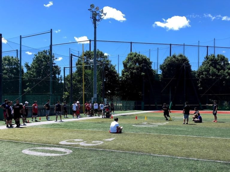 『インターナショナルボウル2020選手選考会』内の高校生アスリートを測定コンバイン(フィジカル測定)
